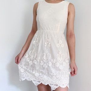 Forever 21 Lacey White Vintage-styled Dress